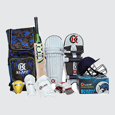 Cricket Game Kit (Complete Kit with Knee pad and wickets